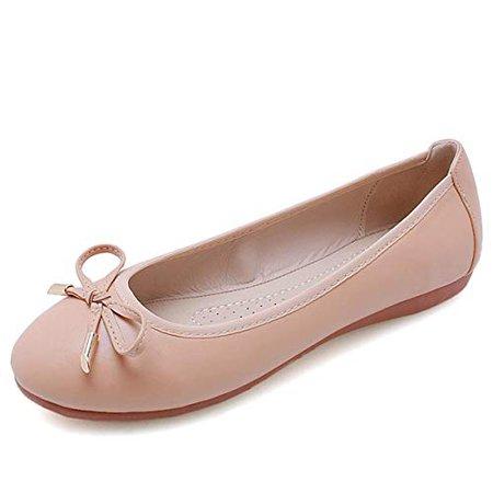 Amazon.com | Slduv7 Women's Ballet Flats Comfort Round Toe Dress Shoes | Flats