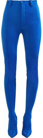 Pantashoe Spandex Skinny Pants - Blue