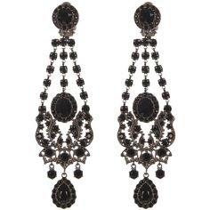 Pinterest   Black chandelier earrings
