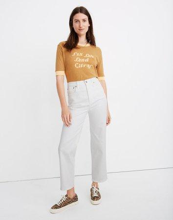 Petite Slim Wide-Leg Jeans in Tile White