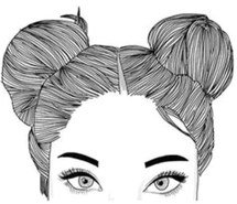 hair sketch - bun