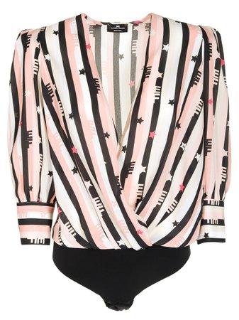 Elisabetta Franchi For Celyn B. Striped Blouse