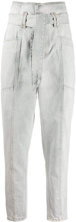 Vieno high-waisted tapered jeans