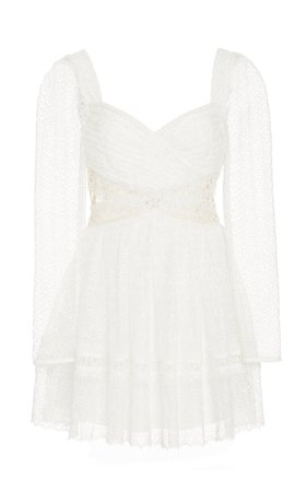 Cutout Lace Mini Dress by Self Portrait | Moda Operandi