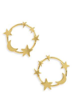 Madewell Star & Moon Hoop Earrings | Nordstrom
