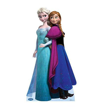 Amazon.com: Advanced Graphics Elsa and Anna - Disney's Frozen Life Size Cardboard Standup: Home & Kitchen