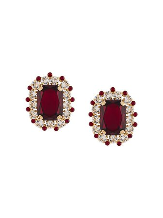 Dolce & Gabbana Oversized Embellished Clip Earrings