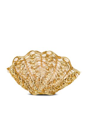 SENSI STUDIO Seashell Clutch in Natural & Beige | REVOLVE