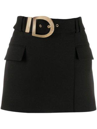Balmain Belted Short Skirt - Farfetch