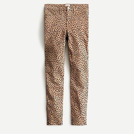 J.Crew: 9 High-rise Toothpick Jean In Leopard Dot For Women