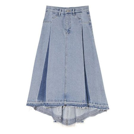 Jean Knee Length Skirt BUBBLES ONLINE STORE