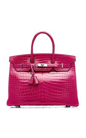 Hermès 35cm Rose Scheherazade Prosous Crocodile Birkin Bag