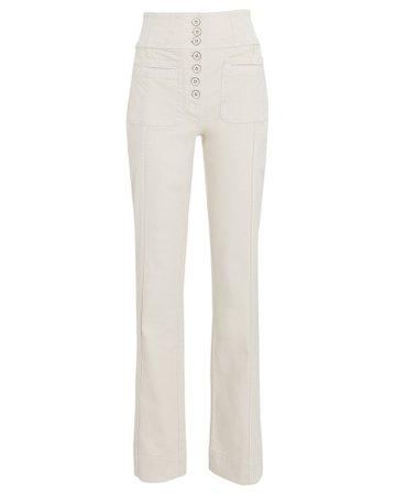 Ulla Johnson Mars High-Rise Straight-Leg Jeans | INTERMIX®