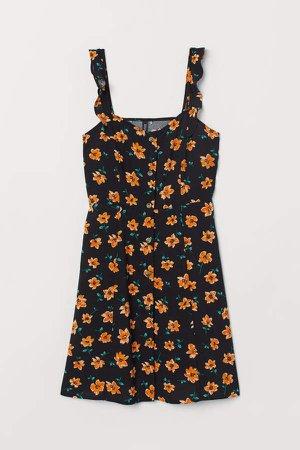 Floral Dress - Black