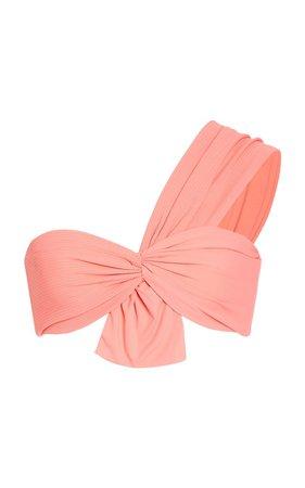 Venice One Shoulder Bow Bikini Top by Marysia Swim | Moda Operandi