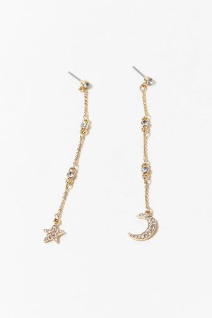 Crescent Moon Drop Earrings | Forever 21