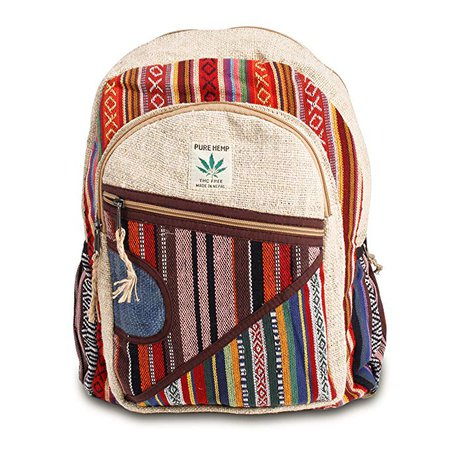 Maha Bodhi All Natural Handmade Multi Pocket Hemp Laptop Backpack