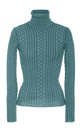 Fitted Wool-Blend Cable-Knit Sweater by Marc Jacobs | Moda Operandi