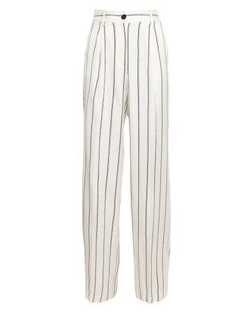 Anine Bing Ryan Striped Wide-Leg Trousers   INTERMIX®