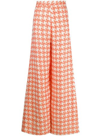 Loulou Houndstooth Tailored Trousers Aw20