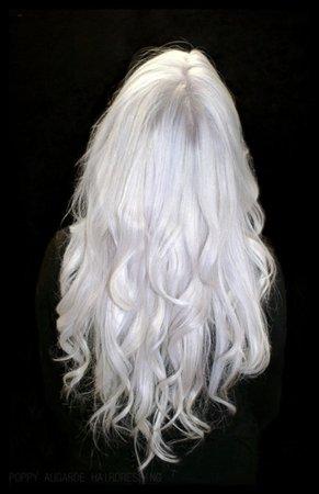 waist length white hair - Google Search
