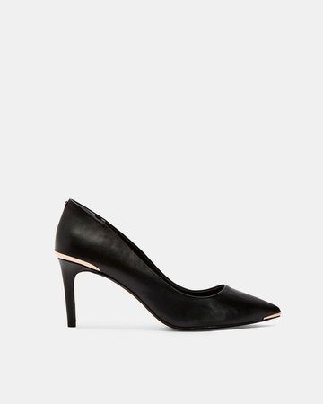 WISHIRI Pointed toe leather court shoes