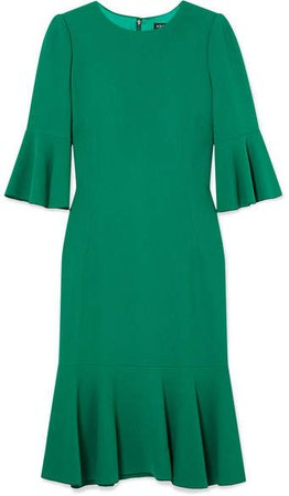 Ruffled Cady Dress - Green