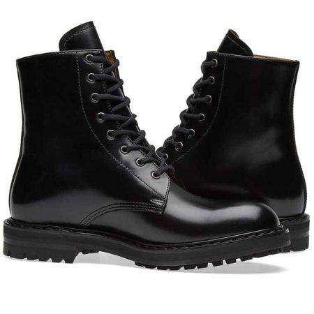 Alexander McQueen Classic Derby Boot Black
