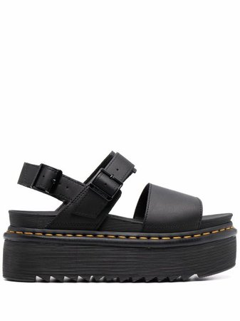 Shop black Dr. Martens platform-sole sandals with Express Delivery - Farfetch