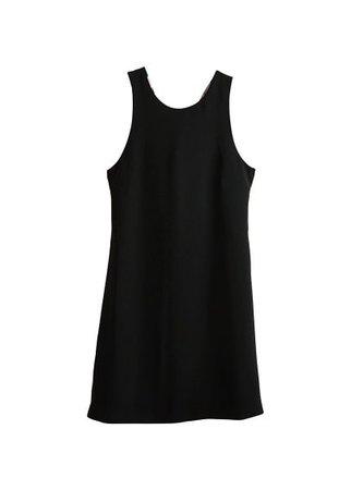 MANGO Print bow dress