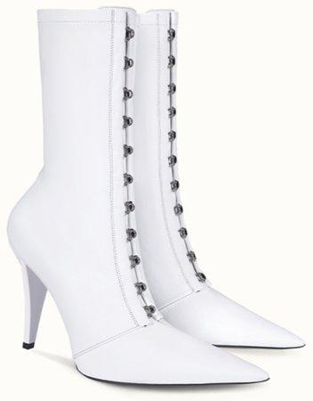 FENTY White Corset Boots