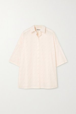 Printed Cotton-poplin Shirt - Off-white