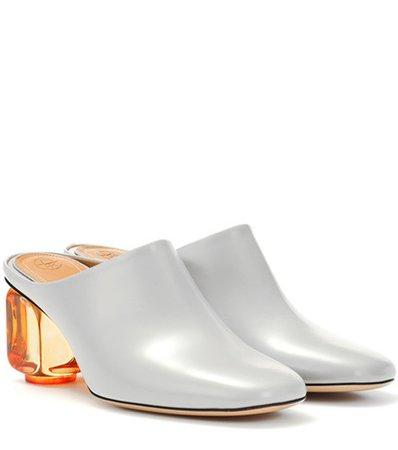 Adela leather mules