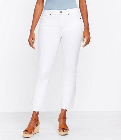The Curvy Fresh Cut High Waist Kick Crop Jean in White