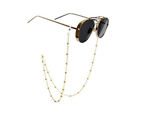 Eyeglass Chain Beaded Glasses Sunglasses Chain Eyeglass Chains and Cords Neck Strap Holder For Women Gold -81cm: Amazon.com: Industrial & Scientific