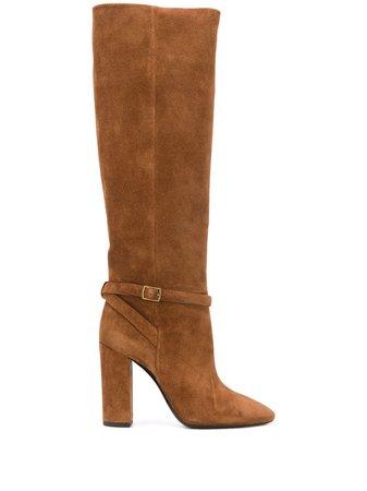 Saint Laurent Buckled knee-length Boots - Farfetch