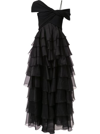 Giambattista Valli, Ruffled Design Dress