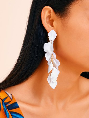 Petal Drop Earrings 1pair | SHEIN