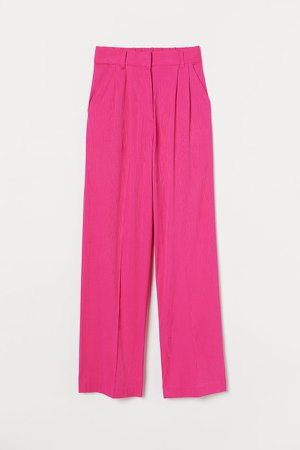 Wide-leg Suit Pants - Pink