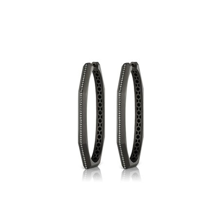 Otto Ovale Hoops in Colored Rhodium — Sorellina Jewelry