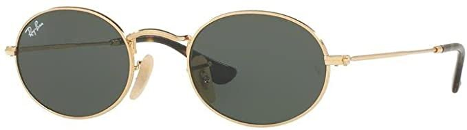 Amazon.com: Ray-Ban RB3547N OVAL 001 51M Gold/Green Sunglasses For Men For Women: Clothing