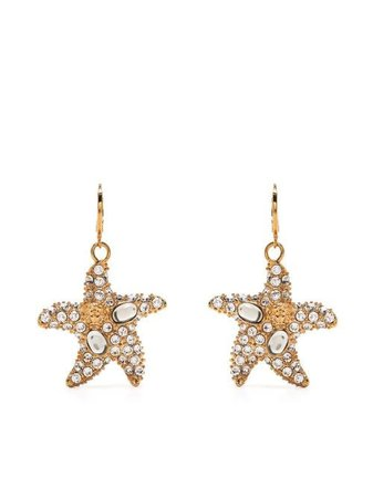 Versace Embellished Starfish Earrings - Farfetch