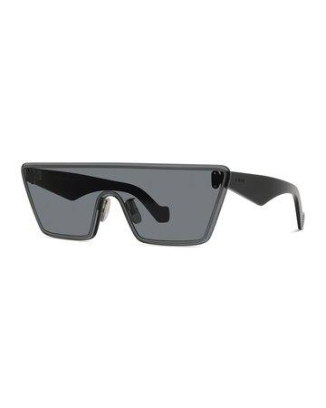 Loewe Rimless Trapezoid Shield Sunglasses | Neiman Marcus