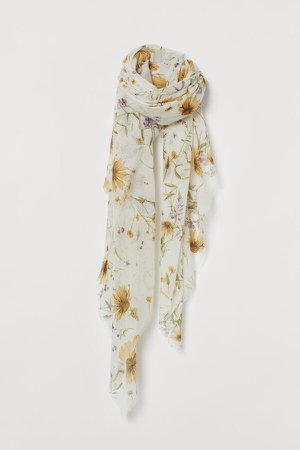 Airy Scarf - White