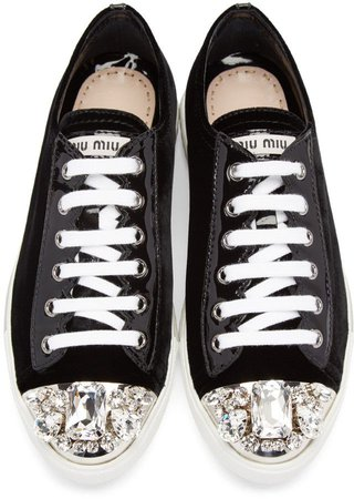 miu miu crystal sneakers