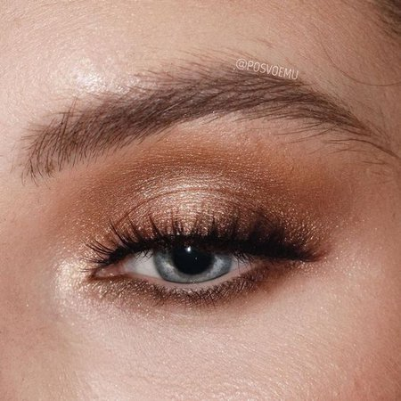 Shimmering Gold Eye Makeup