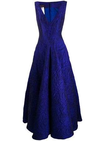 Shop blue Talbot Runhof Tottori dress with Express Delivery - Farfetch