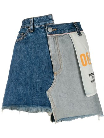 Monse Inside Out Denim Skirt - Farfetch