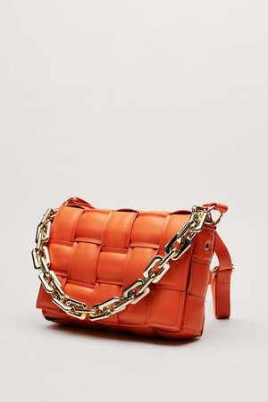 Woven Chunky Chain Crossbody Bag   Nasty Gal