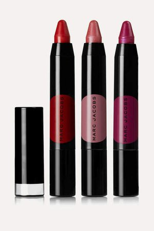 Beauty - On The Dot 3-piece Le Marc Liquid Lip Crayon Collection - Red